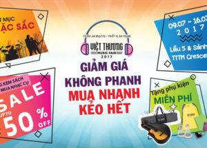 Việt Thương Music Fair – Triễn lãm nhạc cụ lớn nhất 2017