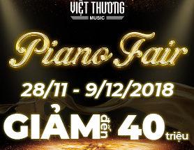 Ngập tràn ưu đãi với ngày hội Piano Fair 2018