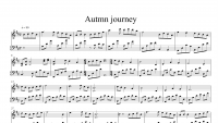 Sheet nhạc Piano Autumn Journey