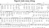 Sheet nhạc bài hát người tình mùa đông