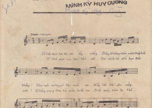 Sheet nhạc bài hát thiệp hồng báo tin